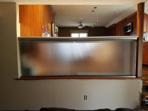 """3/8"""" stain tempered glass with flat polished edges"""