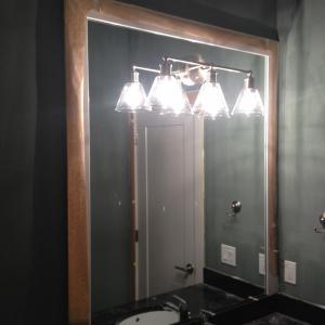 Mirror set inside frame