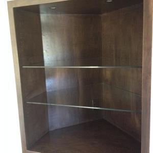"Custom 3/8"" Clear Glass Shelves w/ Flat Polished Edges"
