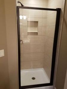 Shower door and frame