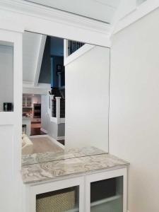encased mirror
